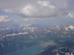 Blick auf die Churfirsten von den Glarner Bergen