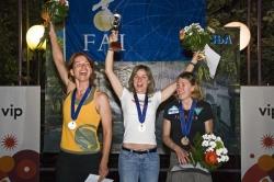 Siegerpodest Damen v.links; Anja Kroll CH, Ewa Wisnierska D, Elisa Houdry F, Foto: azoom.ch