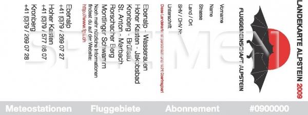 Landekarte Alpstein 2009